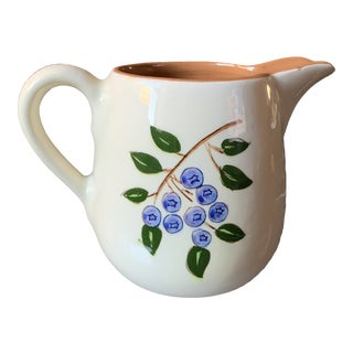 1950s Mid-Century Stangl Pottery Blueberry Pitcher For Sale