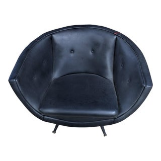 Mid-Century Low Swivel Lounge Chair