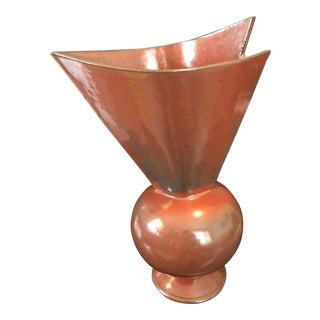 Modern Asymmetrical Pottery Vase