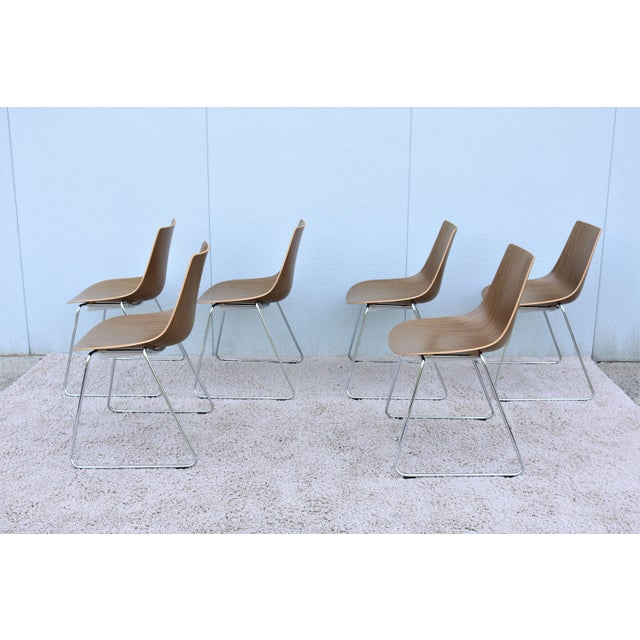Mid-Century Modern Style Allermuir Curve Dining or Stacking Side Chairs- Set of 6 For Sale - Image 9 of 13