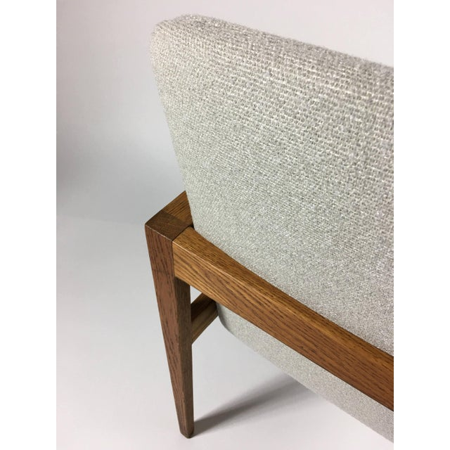 1950s Mid-Century Modern Jens Risom Accent Chair With Arms For Sale In Detroit - Image 6 of 8