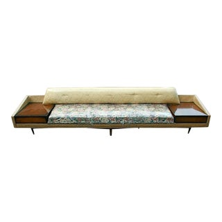 Monumental Floral Sofa with Incorporated End Tables