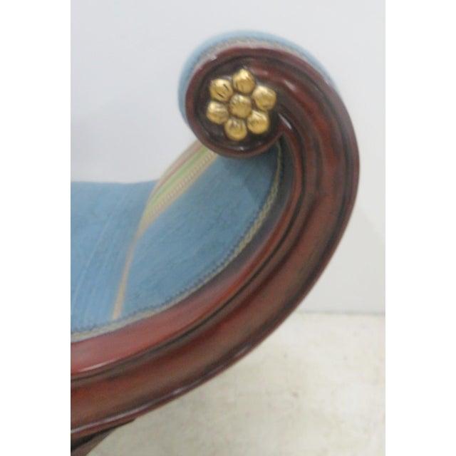 Mahogany Regency Style Window Bench For Sale In Philadelphia - Image 6 of 9