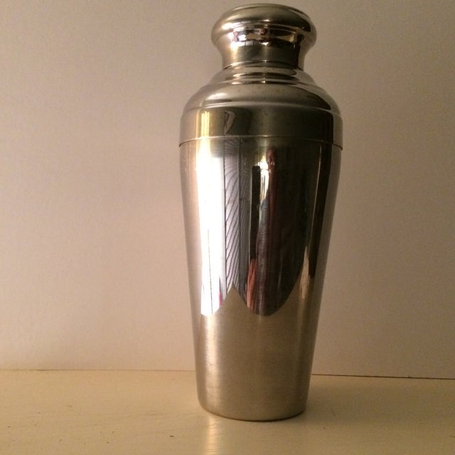 Vintage 22 Ounce Stainless Steel Cocktail Shaker - Image 4 of 11