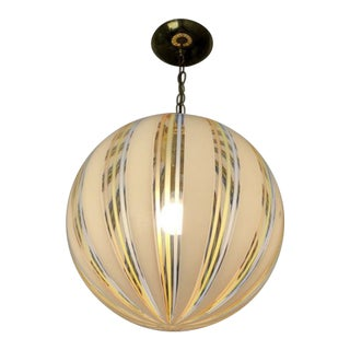 Spherical Antique Ceiling Fixture For Sale