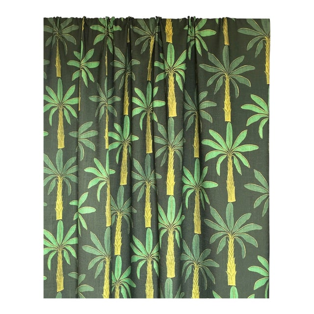 Tropical Fabric in Mallard Green, Sample For Sale - Image 4 of 6