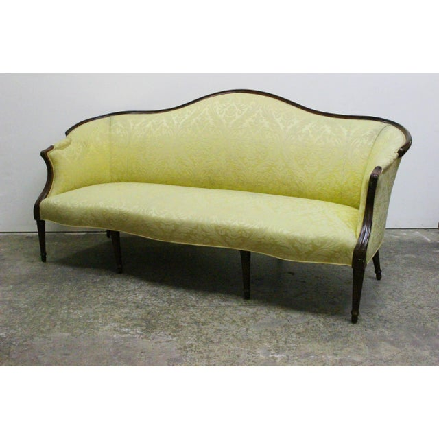 Mid 20th Century Wood Wrapped French Sofa For Sale - Image 5 of 8