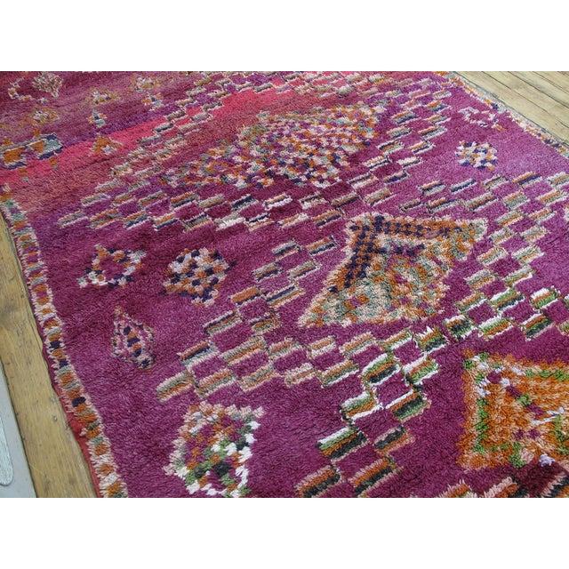 Boho Chic Moroccan Boujad Wool Rug - 6′3″ × 9′4″ For Sale - Image 3 of 8