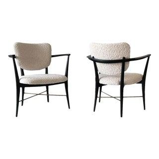 Rare Pair of Edward Wormley for Dunbar 5305 Armchairs For Sale