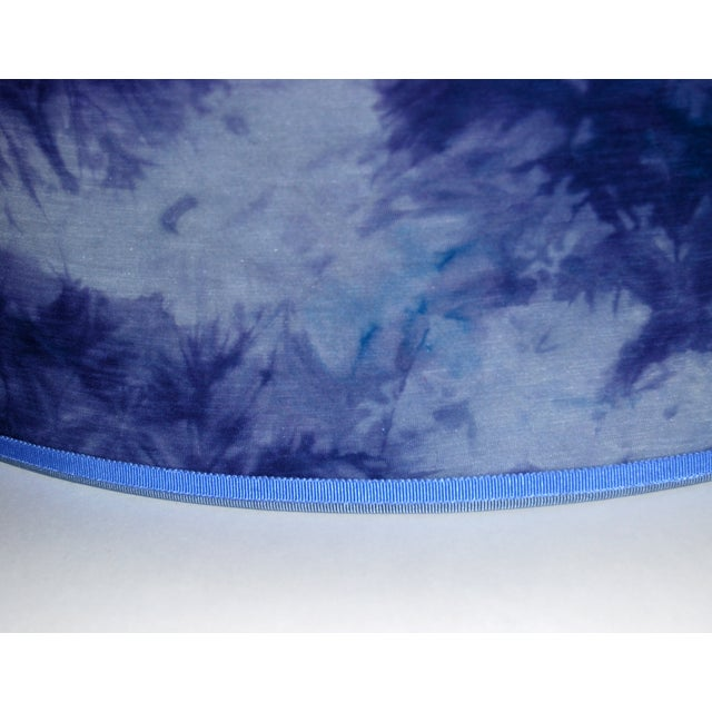 Blue Hand Dyed Fabric Lampshade - Image 4 of 5