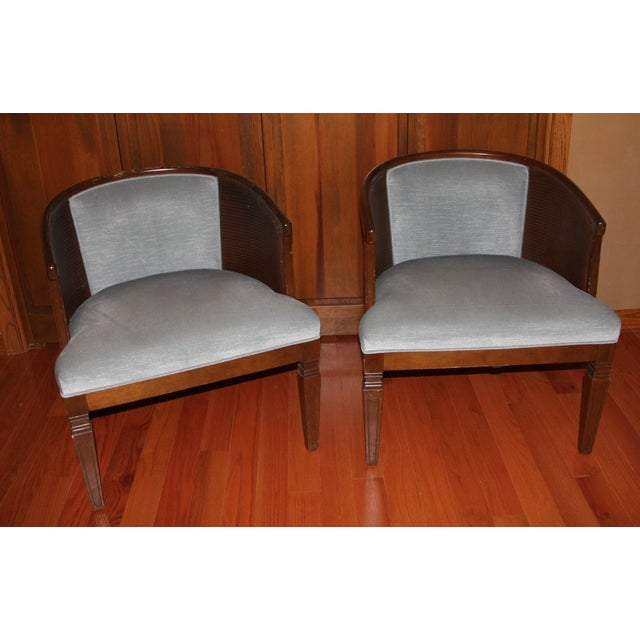 2 chairs that are in good condition. Color is a light blue. These chairs are very comfortable!
