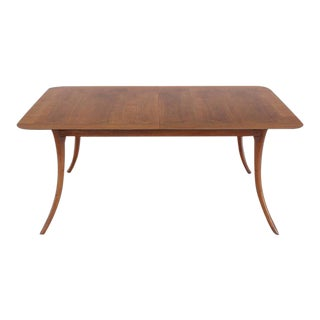 Mid Century Modern Gibbings for Widdicomb Sabre Leg Walnut Dining Table For Sale