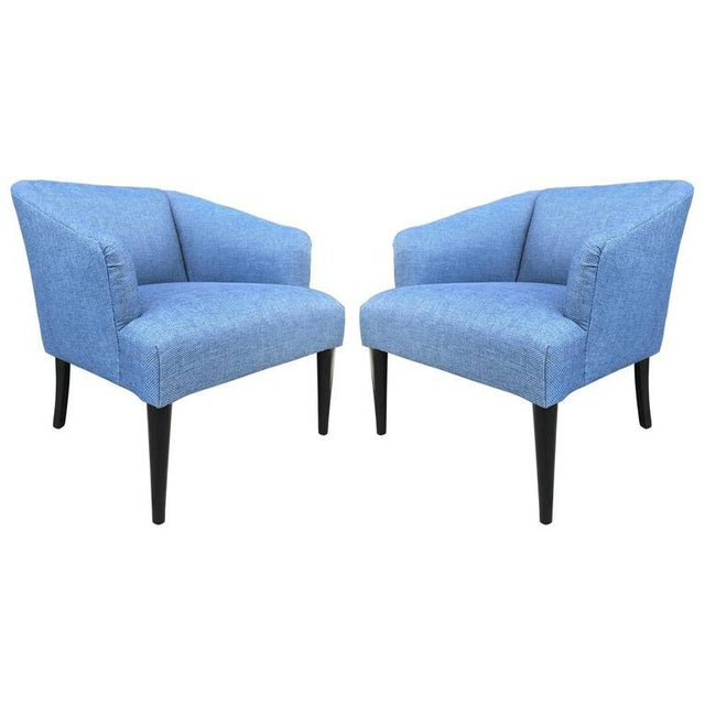 Pair of Mid-Century Modern Lounge Chairs For Sale In New York - Image 6 of 6