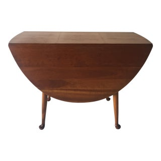 Mid Century 1950s Antique Stickley, L. & J., G. Stickley Country Drop-Leaf Cherry Table