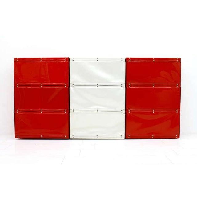 Softline Wall System, Shelf, Bookshelf by Otto Zapf, Germany 1971, Red / White For Sale - Image 10 of 10