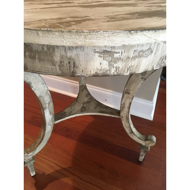 Paint David Latesta Custom Hand Finished White Rustic Table For Sale - Image 7 of 10