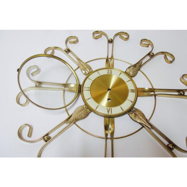 Mid Century Modern Hollywood Regency Atomic Clock - Image 6 of 11