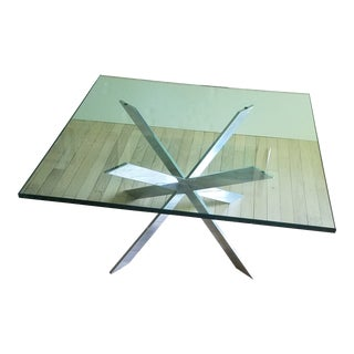 Mid Century Modern Leon Rosen for Pace Double X Chrome Cocktail Table For Sale