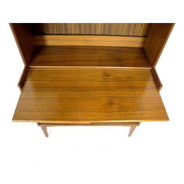 Vintage Danish Modern Teak Secretary Bookcase - Image 4 of 4