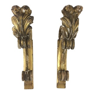 Napoleon III Parcel Gilt Curtain Supports - A Pair For Sale