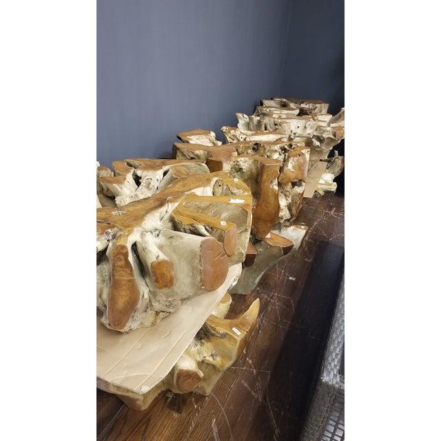 2010s Organic Modern Tera Teak Wood Coffee Table For Sale - Image 5 of 8