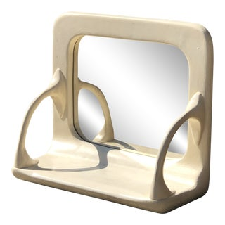 Hanging Wall Mirror With Shelf For Sale
