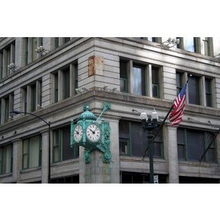 Marshall Field's Clock, State Street Photograph by Josh Moulton For Sale