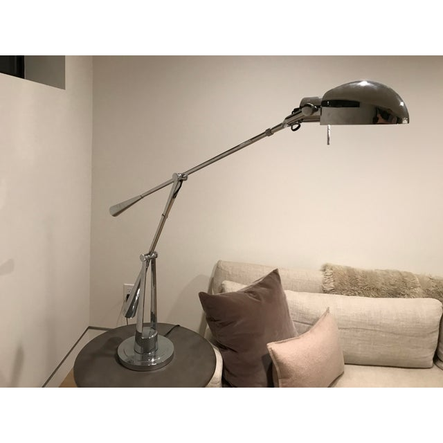 Equilibrium Table Lamp ,Raplh Lauren Polished Nickel For Sale In Los Angeles - Image 6 of 7