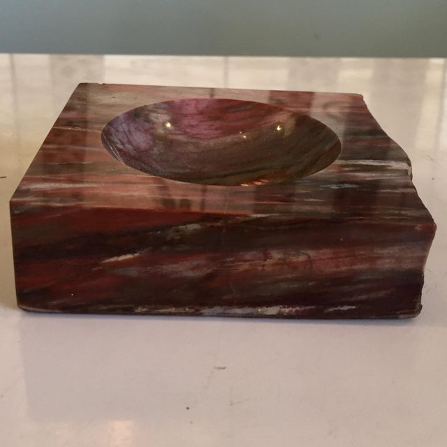 Petrified Wood Ashtray For Sale - Image 4 of 7