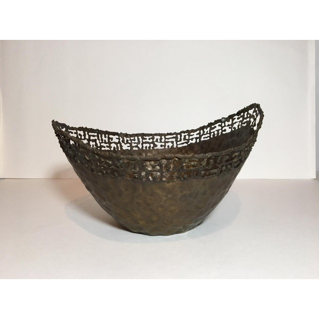 Circa 1950 Marcello Fantoni Italian Brutalist Style Copper Bowl For Sale - Image 11 of 11
