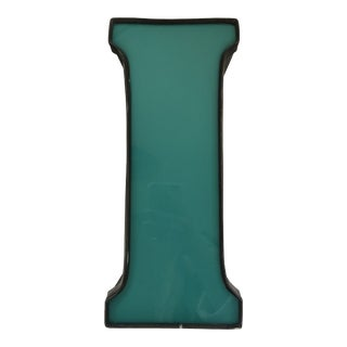 Large Teal Marquee Letter 'I' For Sale