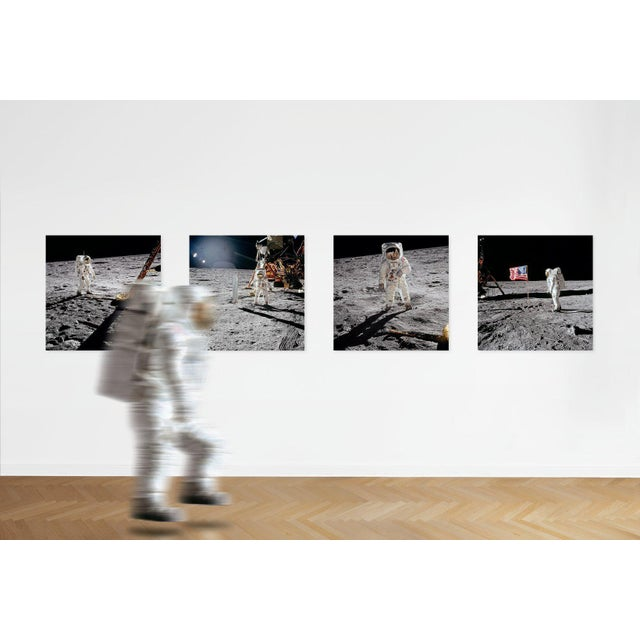 Black Autographed Buzz Aldrin Apollo 11 'Earthrise Sequence' Art Print For Sale - Image 8 of 11