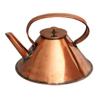 English Ship's Nautical Copper Kettle For Sale
