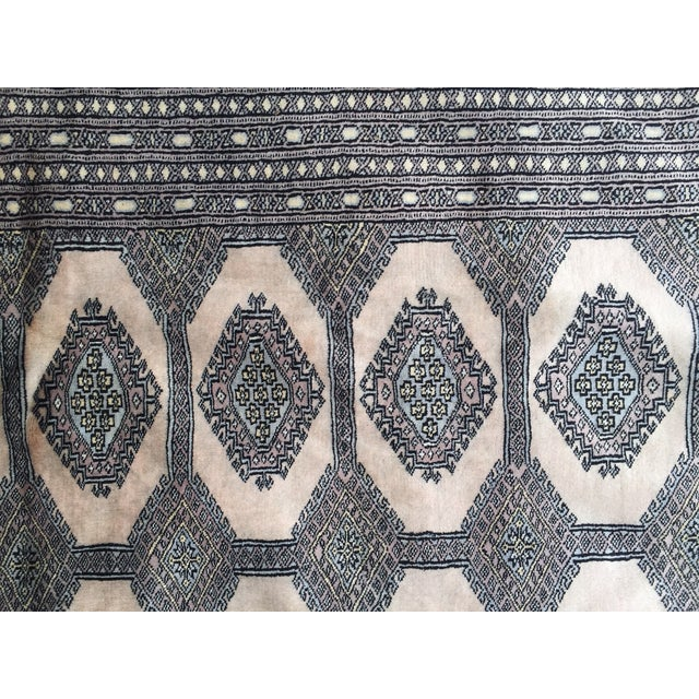 "Cotton Pakistani Bokhara Carpet - 10'5"" X 13'5"" Beautiful Mint Condition For Sale - Image 7 of 9"