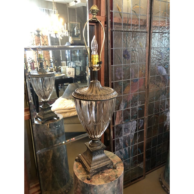 Neoclassical Crystal Table Lamp For Sale - Image 4 of 13
