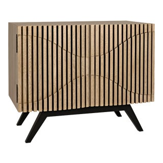 Illusion Single Sideboard with Metal Base, Bleached Walnut For Sale