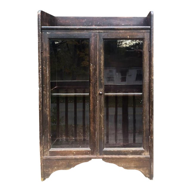 Distressed Wooden Bookcase For Sale