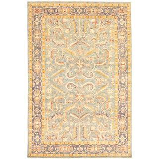 """Pakistani Hand-Knotted Rug-5'11"""" X 9'1"""" For Sale"""