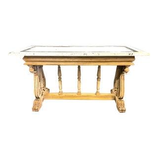 Italian Renaissance Revival Trestle Table, 19th Century