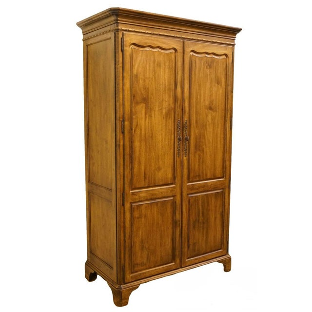 Late 20th Century Vintage Lexington Furniture Southern Living Collection Country French Armoire For Sale - Image 10 of 10