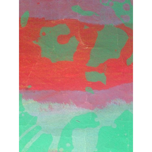 Mid Century Abstract Silkscreen Bay Area Female Artist For Sale - Image 4 of 8