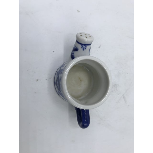 1980s Blue and White Miniature Watering Can Sculpture For Sale - Image 5 of 7