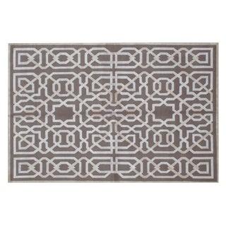 Stark Studio Rugs Contemporary New Oriental Tibetan 50% Wool/50% Viscose Rug - 8′ × 10′ For Sale