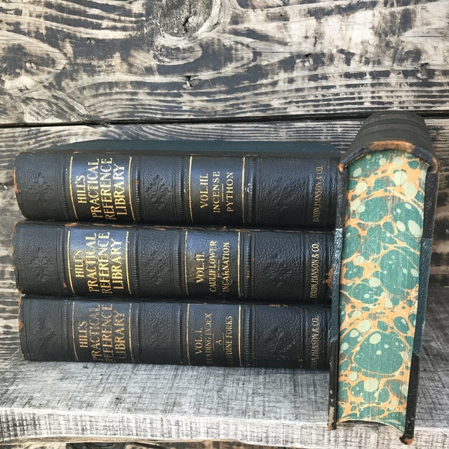 Complete four volume set of Hill's Practical Reference Library vintage 1906. These wonderful books would be perfect...