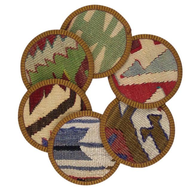 Fatimah Kilim Coasters - Set of 6 - Image 1 of 2