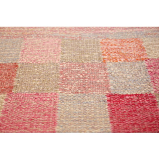 Vintage Scandinavian Art Deco Flat Carpet - 7′3″ × 10′8″ For Sale - Image 4 of 10