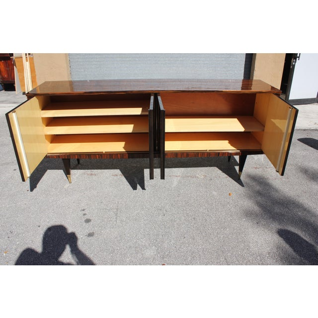 Art Deco 1940s French Art Deco Macassar Ebony Sideboard/Buffet For Sale - Image 3 of 13