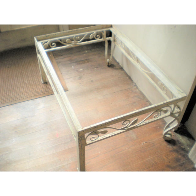 French Country Armoire Cast Iron Stand For Sale - Image 6 of 7