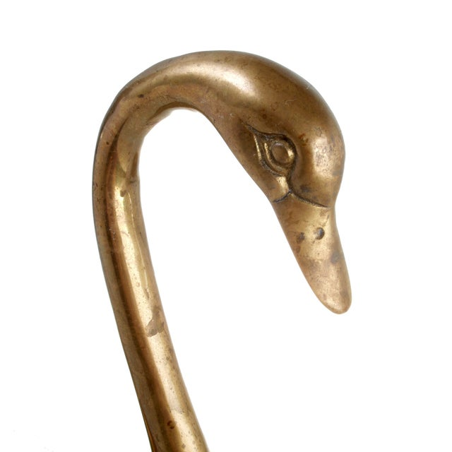Mid-Century Brass Swans - A Pair - Image 4 of 6