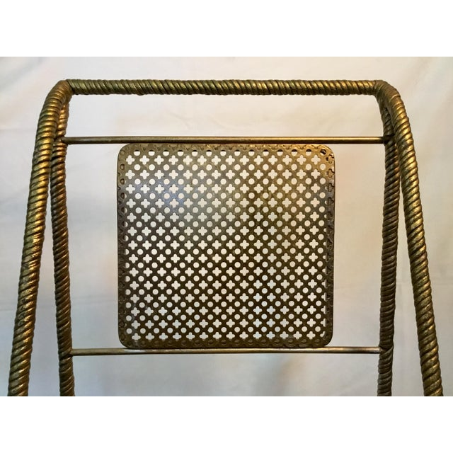Gilt Metal Chairs - Set of 6 For Sale In Los Angeles - Image 6 of 13